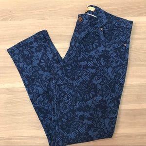Sanctuary Lace Detail Blue Denim Jeans